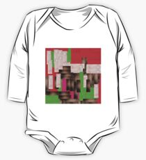 textile, rectangle, art, design, symbol, paper, christmas, cross, wood, green color, no people, colors, square One Piece - Long Sleeve