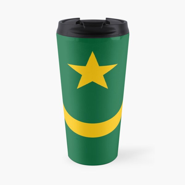 The Mauritania Flag Travel Mug