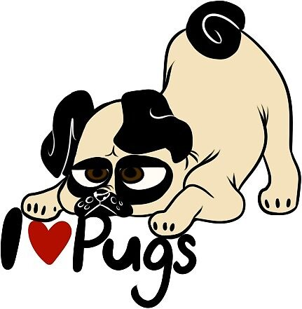 I love Pugs by Puqqing