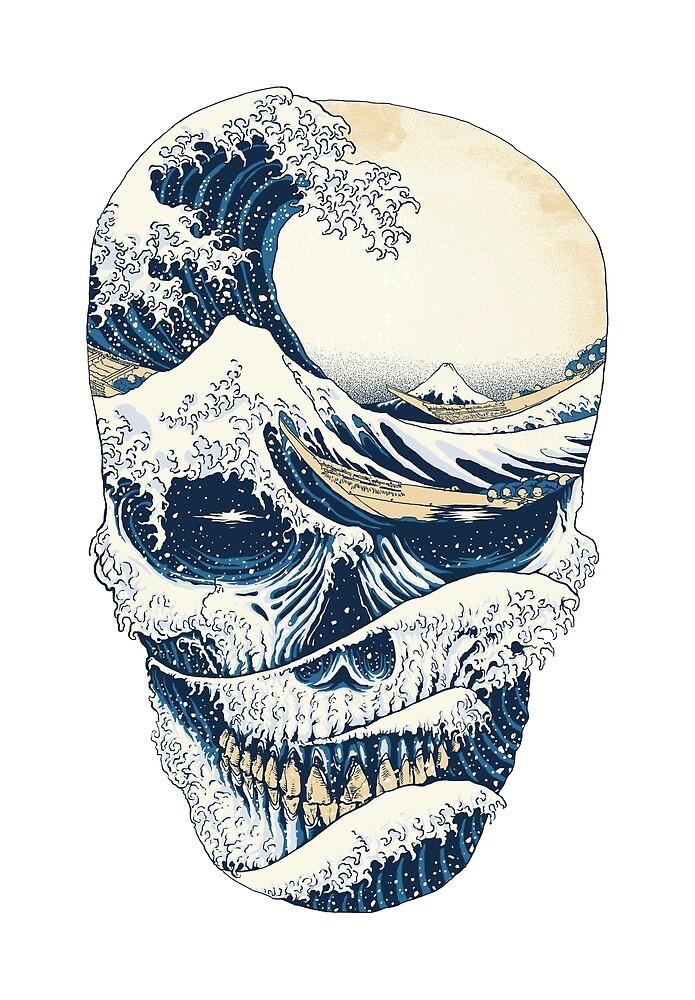 «La gran ola de cráneo» de Quilimo Studio