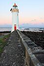 Port Fairy Lighthouse Moonrise, Victoria, Australia by Michael Boniwell