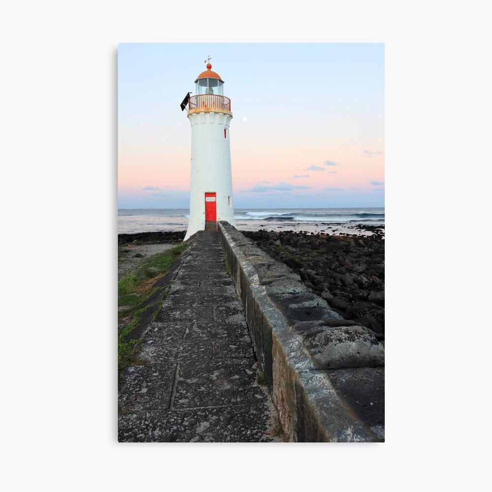 Port Fairy Lighthouse Moonrise, Victoria, Australia Canvas Print