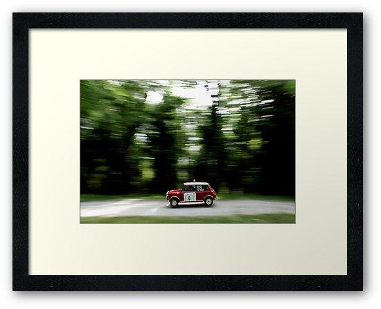 Mini Cooper S Print - Classic Rally Car  by pistonphoto