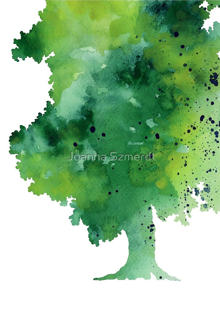 Green oak fine art print by Joanna Szmerdt