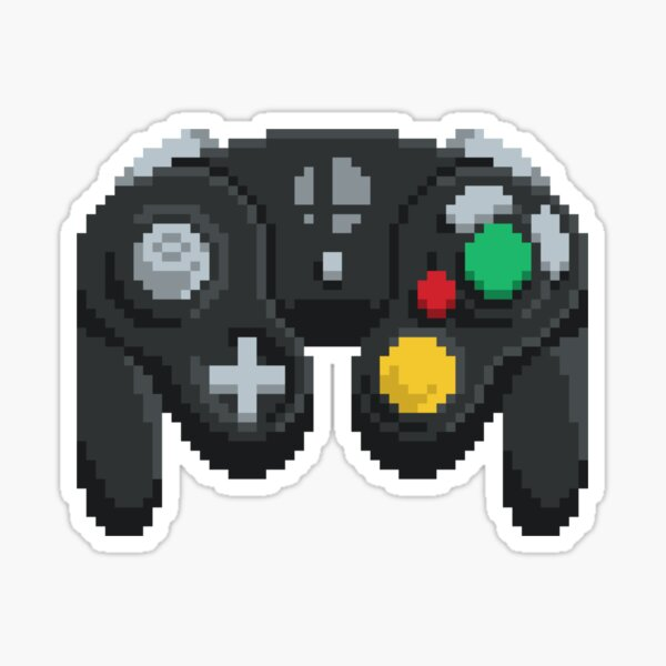 Pixel GameCube Controller Sticker