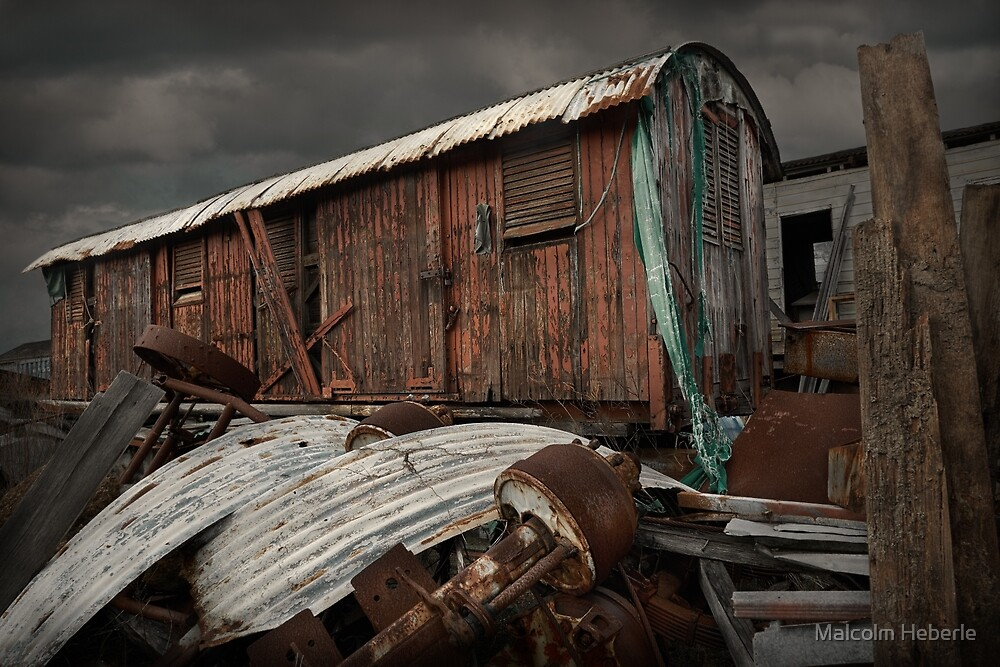 Old Railway Carriage #02 by Malcolm Heberle