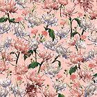 Coral Blush Garden - Koralle • Rouge • Weiß von L Diane Johnson