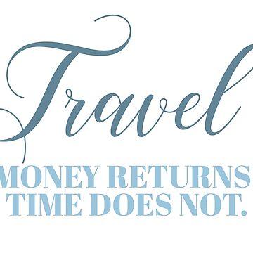 Reisen - Geld kehrt zurück. Zeit nicht von doodle189