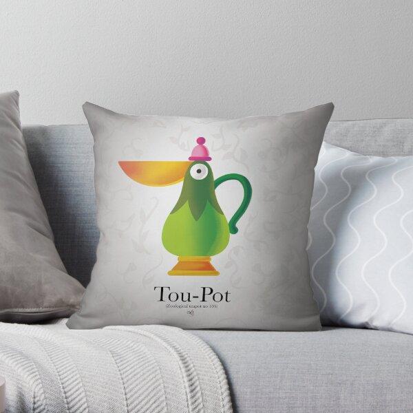 Tou-Pot Throw Pillow