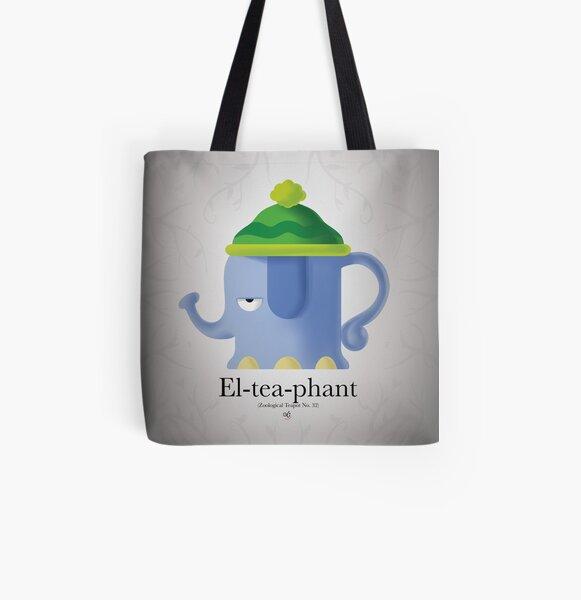 El-Tea-Phant All Over Print Tote Bag