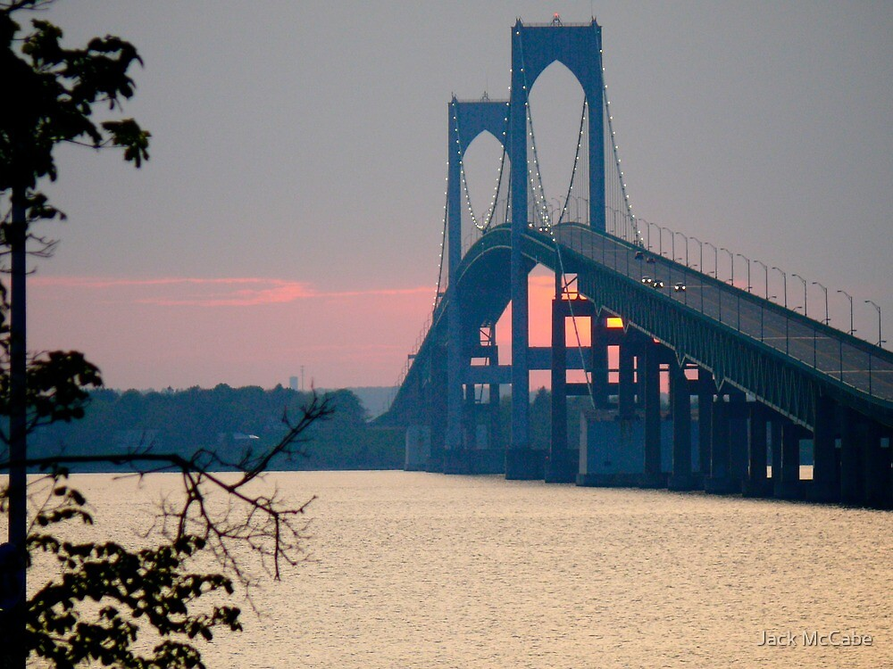 Sunset Under the Newport - Pell - Bridge - Rhode Island © 2010 *featured by Jack McCabe