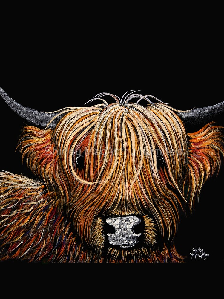 Scottish Highland Cow PRiNT 'HAMISH' by Shirley MacArthur by ShirleyMacA