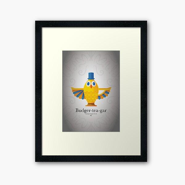 Budger-Tea-Gar Framed Art Print