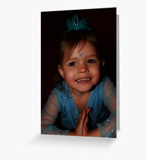Little Girl In Blue Greeting Card