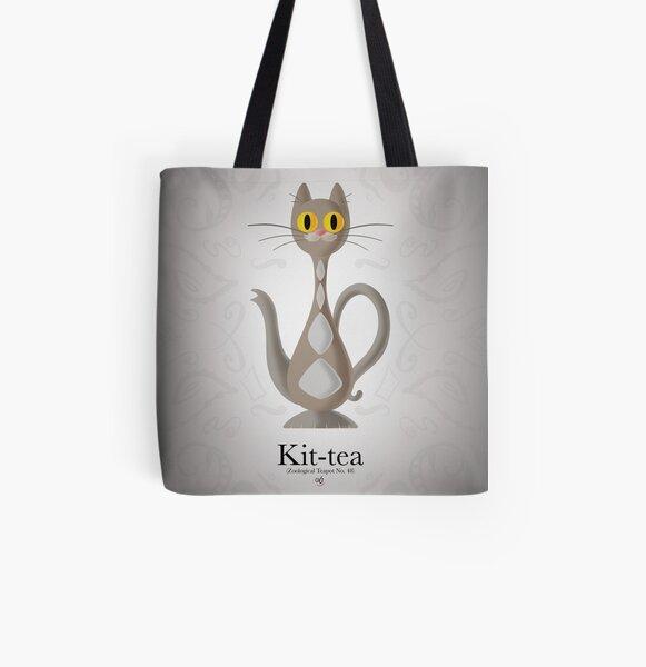 Kit-Tea All Over Print Tote Bag