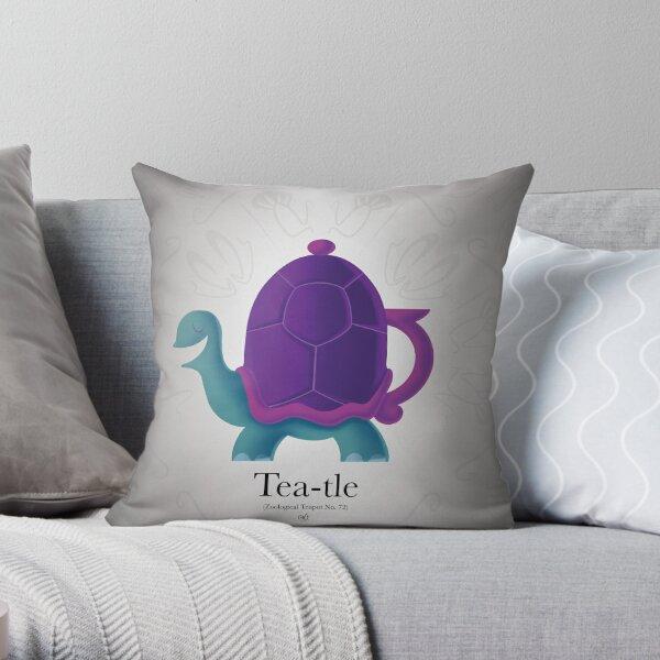 Tea-tle Throw Pillow