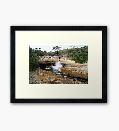 There she blows! Framed Print