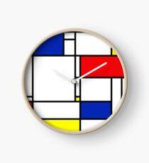 Reloj Mondrian Minimalista De Stijl Arte Moderno