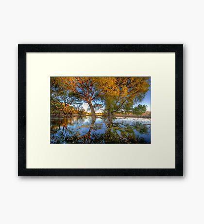 Sun High, Water Low Framed Print