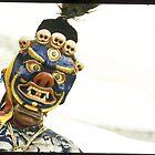 tibetan cham dance 1 by Ursa Vogel