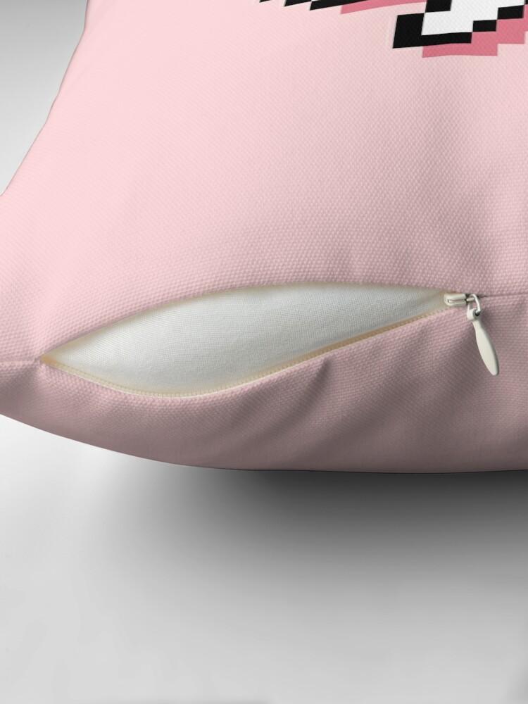 Alternate view of Dead Kaomoji - Pixel Speech Bubble - (Pink) Throw Pillow