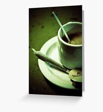 Coffee shop in Amsterdam Grußkarte