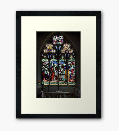 The Window at All Saints Misterton Framed Print
