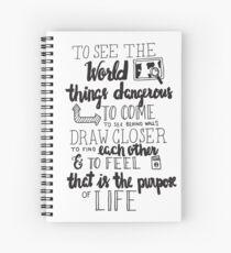 Walter Mitty Life Motto - Black Spiral Notebook