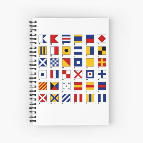 Nautical Flags Spiral Notebook