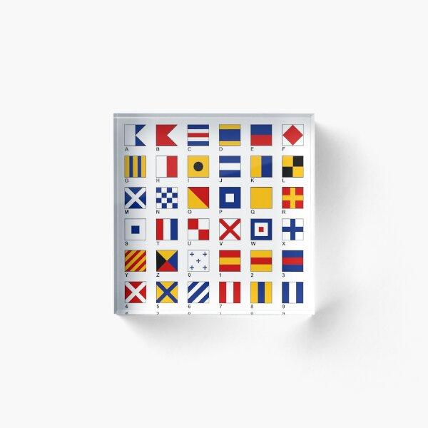 Nautical Flags Acrylic Block