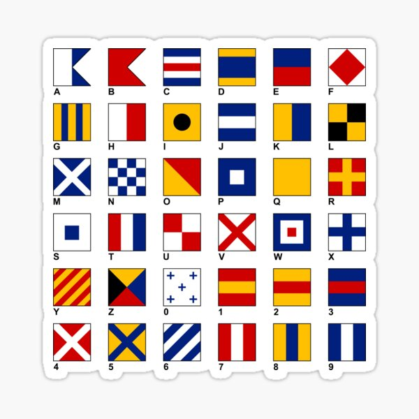 Nautical Flags Sticker