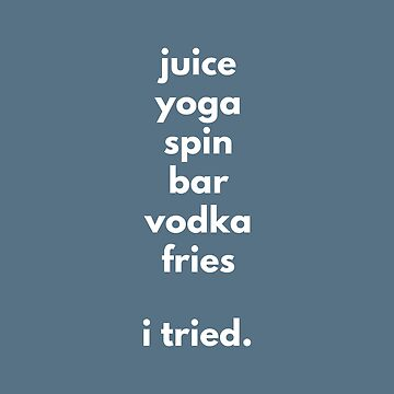 Juice Yoga Spin Vodka Fries - I tried  by mivpiv