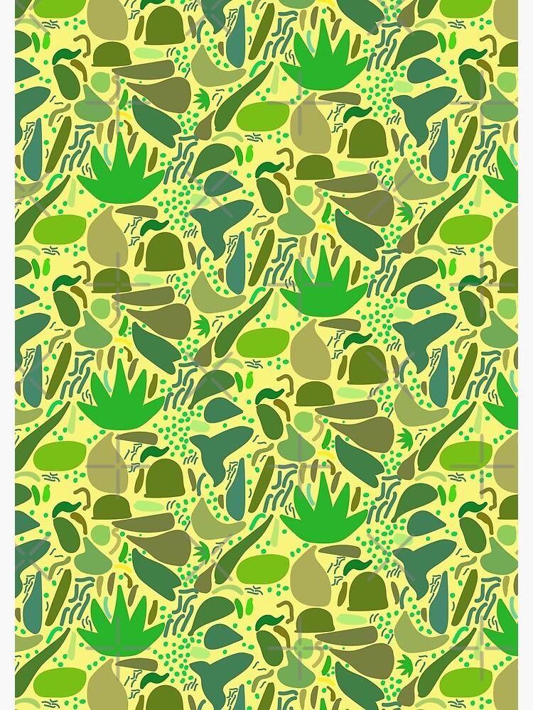 Lush Vegetation Green Yellow by enlarsen