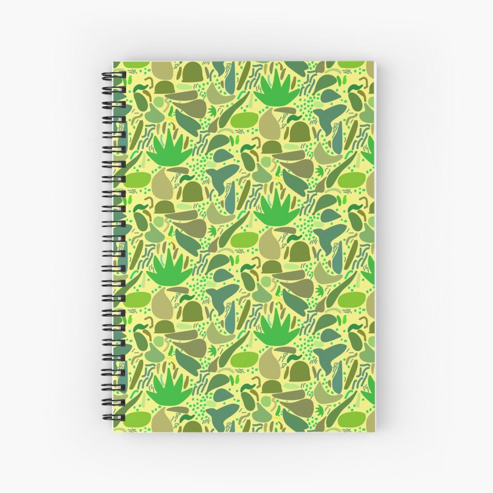 Lush Vegetation Green Yellow Spiral Notebook