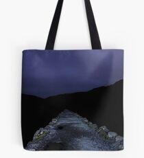 Snowdon Miner's Path at midnight Tote Bag