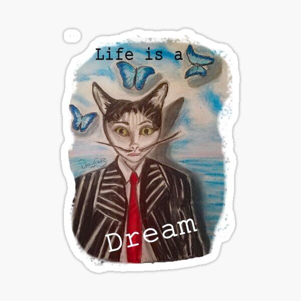 The Surrealist Cat Sticker