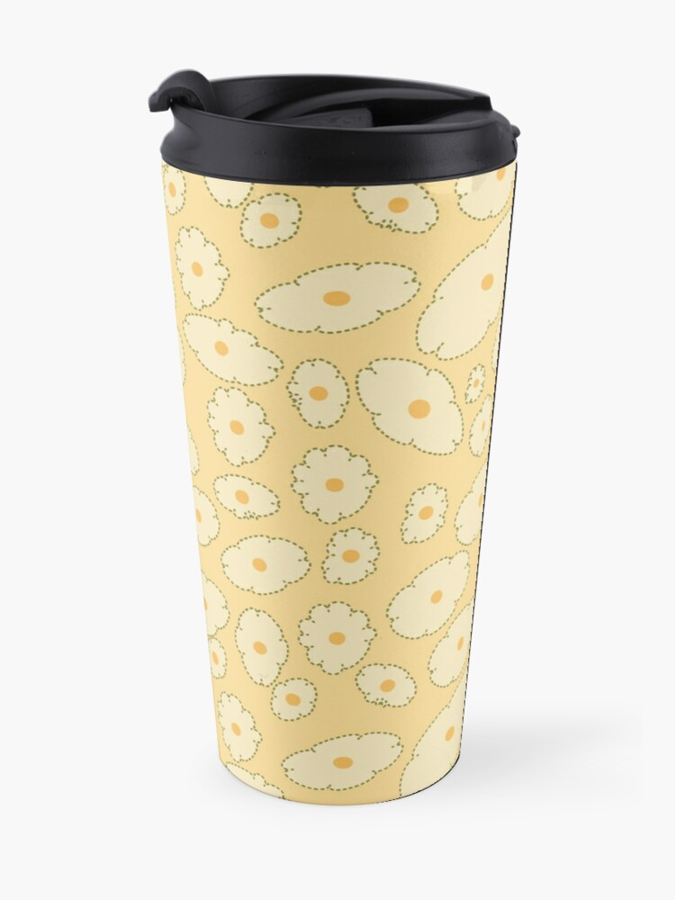 Alternate view of Field of Abstract Daisies Travel Mug
