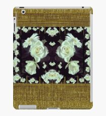 Cool roses in a gold landscape iPad Case/Skin