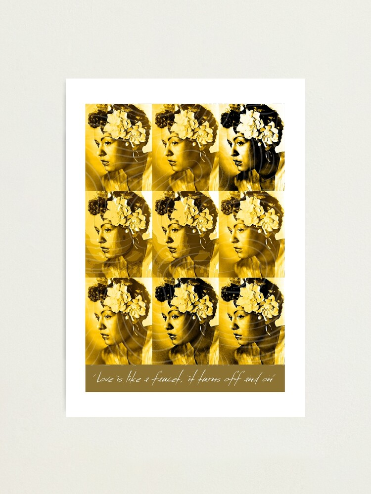 Alternate view of Jazz Heroes Series - Billie Holiday Photographic Print