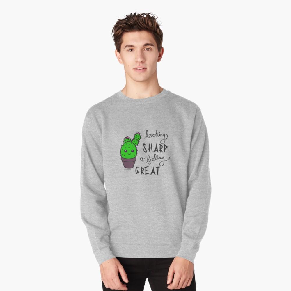 Sassy Cactus Pullover Sweatshirt