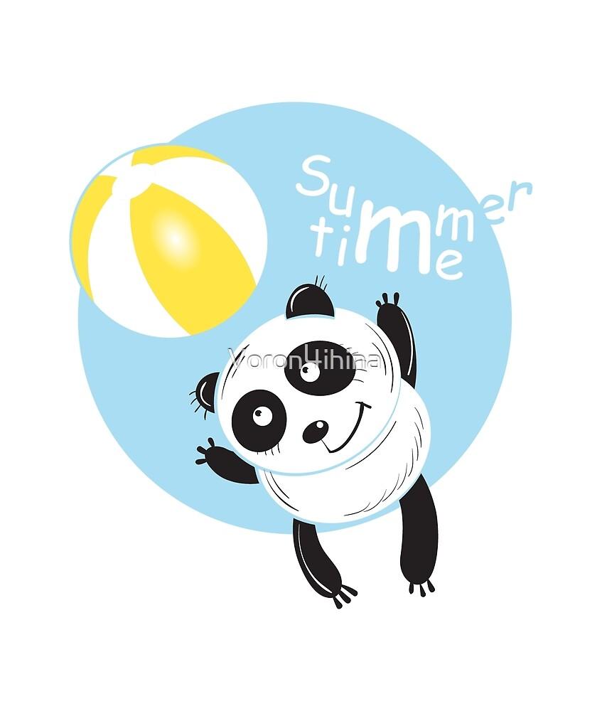 Summer panda. by Voron4ihina