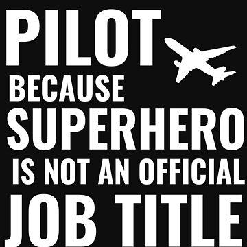 Pilot co-pilot captain shirt gift mens kids by Tengelmaker