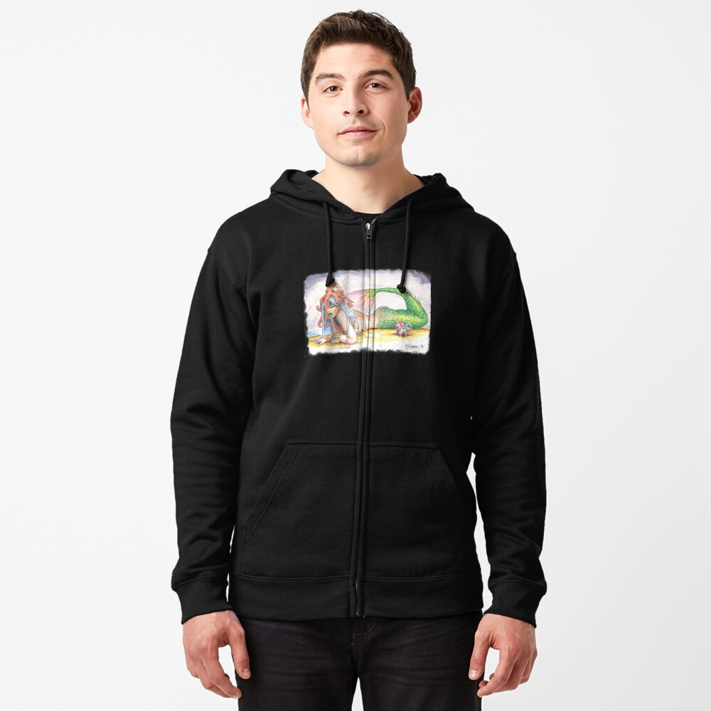 """HE DID IT"" - Mermaid and Friends Zipped Hoodie"