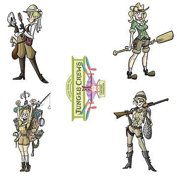 TFJC Stickers- The Ladies by JungleCrews