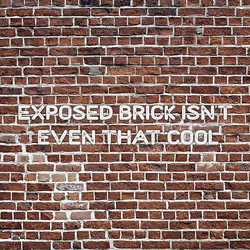 Exposed Brick isn't even that cool by tziggles
