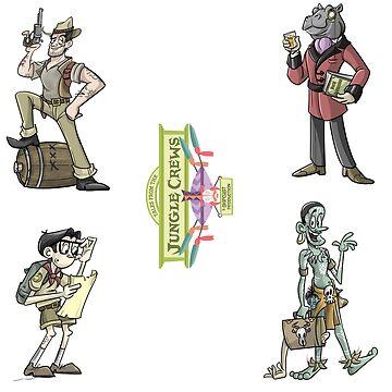 TFJC Stickers- The Lads by JungleCrews