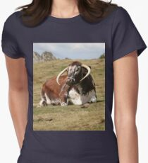 english longhorn Fitted T-Shirt