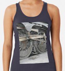 steam train wheels Racerback Tank Top