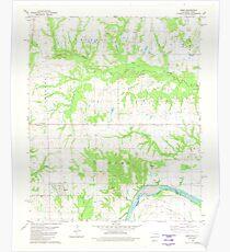 USGS TOPO Map Texas OK Kemp 706139 1980 24000 Poster