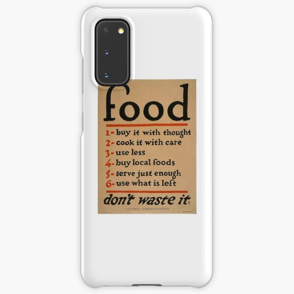 WWI Poster - Food Samsung Galaxy Snap Case